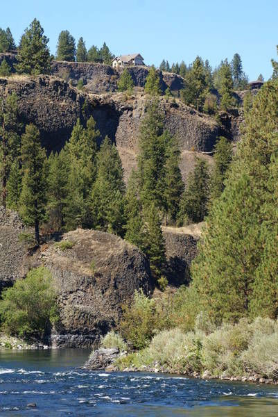 Photograph - Home On The Hill Above The Spokane River by Ben Upham III