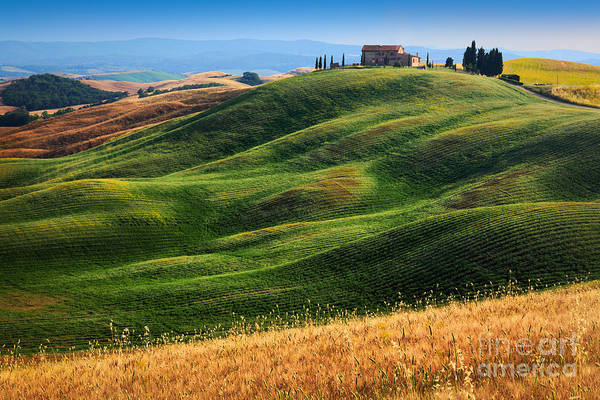 Siena Italy Photograph - Home On The Hill by Inge Johnsson