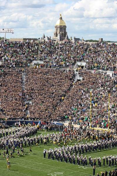Notre Dame Photograph - Home Opener 2012 by Michael Cressy