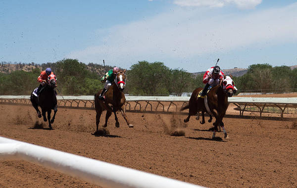 Wall Art - Photograph - Home Stretch At Ruidoso Downs by Rich Hallen