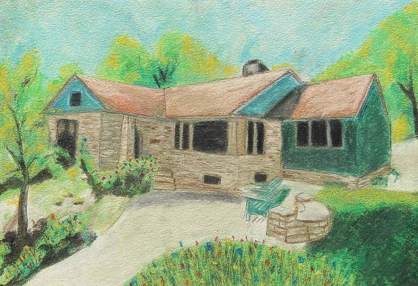 Neighborhood Painting - Home Sweet Home by Jeanne Fischer