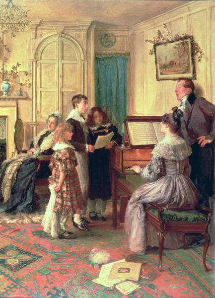 Skipping Painting - Home Sweet Home by Walter Dendy Sadler