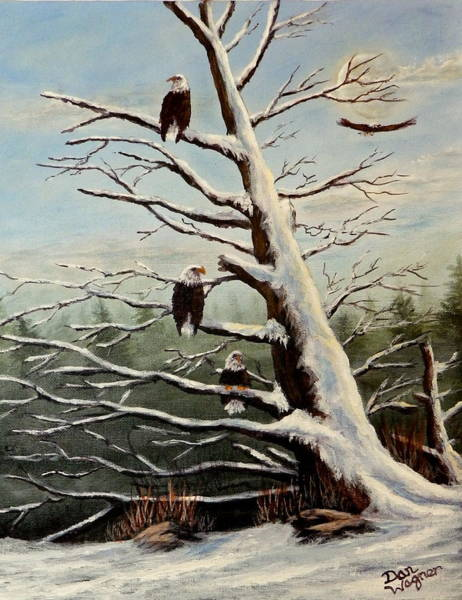 Painting - Home To Roost by Dan Wagner