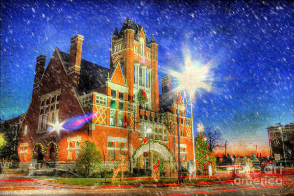 Fisher Center Photograph - Home Town Christmas by Darren Fisher