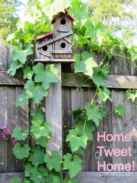 Fence Post Digital Art - Home Tweet Home by Kimberlee Baxter