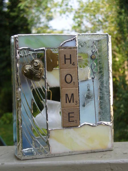 Glass Art - Home Windowsilll Box by Karin Thue