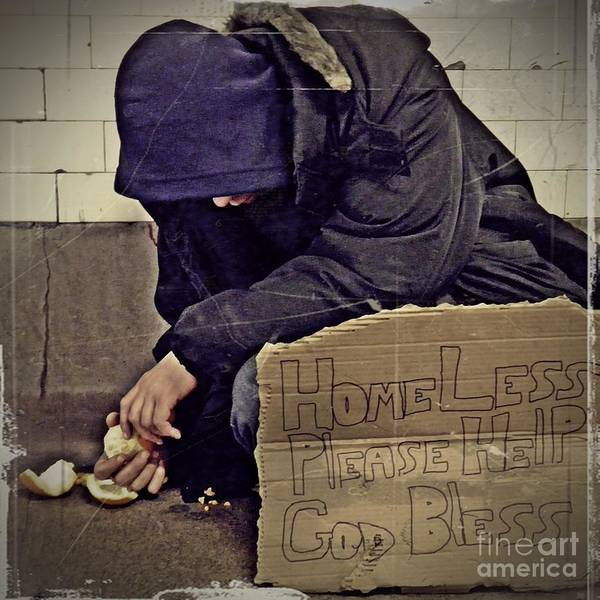 Sarah Photograph - Homeless Please Help by Sarah Loft