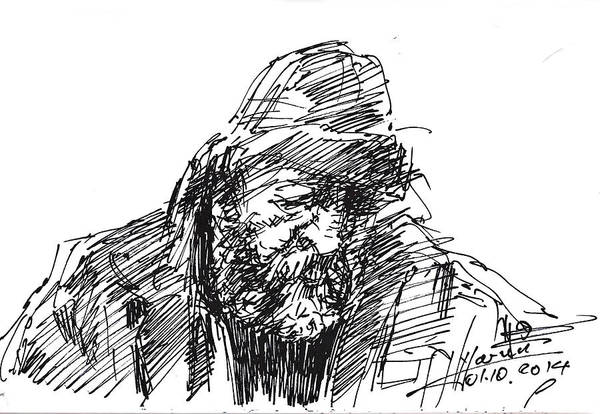 Portraits Drawing - Homeless by Ylli Haruni