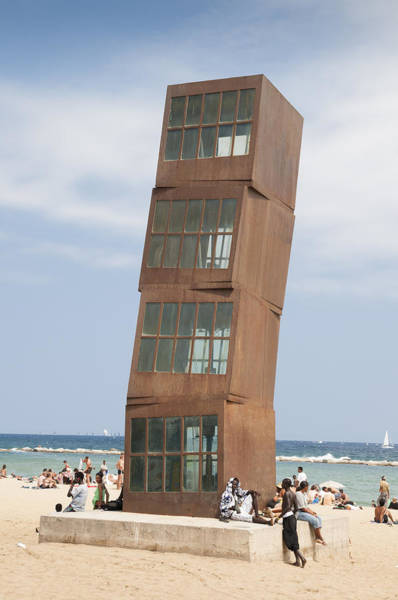 Photograph - Homenatge A La Barceloneta - Artwork By Rebbeca Horn On A Beach In Barcelona by Matthias Hauser