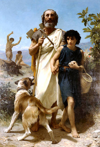 Painting - Homer And His Guide  by Adolphe William Bouguereau