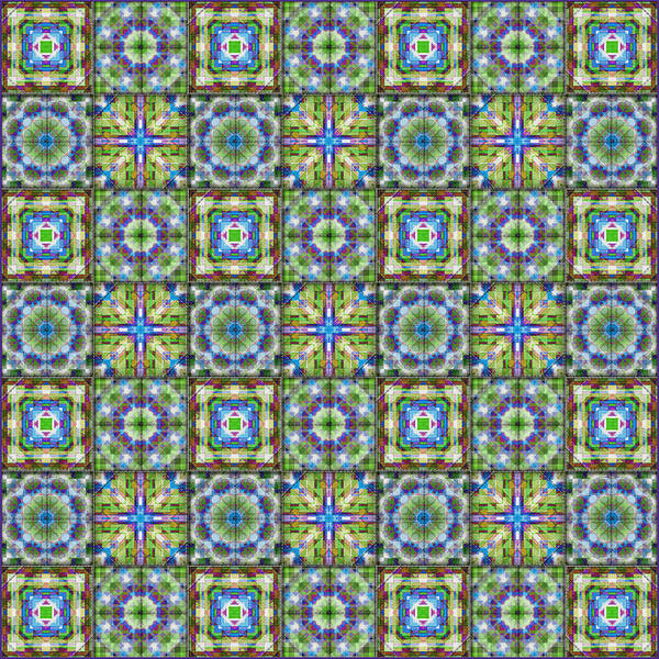 Quilter Digital Art - Homespun Jewels Quilted Squares by Denise Beverly