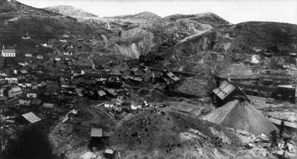 Lead Mine Wall Art - Photograph - Homestake Mines, C1891 by Granger