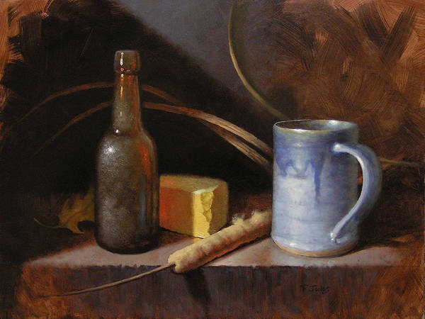 Wall Art - Painting - Homestead Beer And Cheese by Timothy Jones