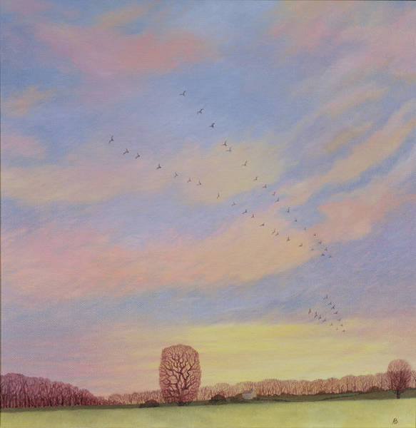 Migrate Photograph - Homeward, 2004 Oil On Canvas by Ann Brain