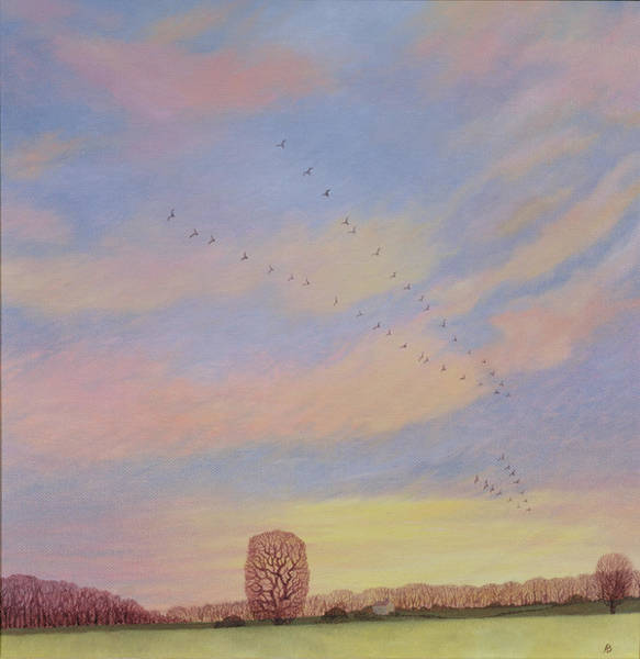 Migration Painting - Homeward by Ann Brian