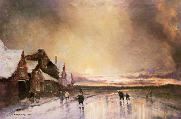 Sun Set Painting - Homeward Bound by J van Hall