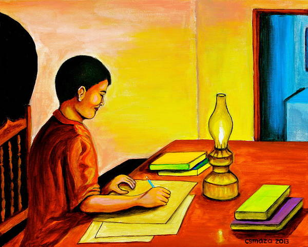 Painting - Homework by Cyril Maza
