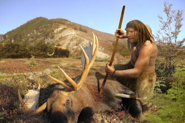 Wall Art - Photograph - Homo Neanderthalensis Hunting by Roman Uchytel/science Photo Library