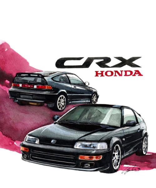 2nd Wall Art - Painting - Honda Crx by Yoshiharu Miyakawa