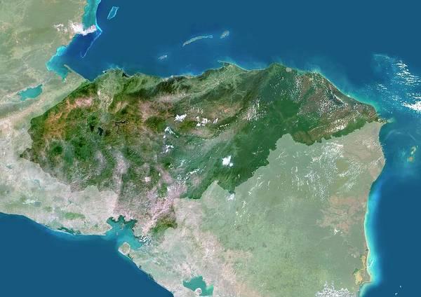 Honduras Wall Art - Photograph - Honduras by Planetobserver/science Photo Library