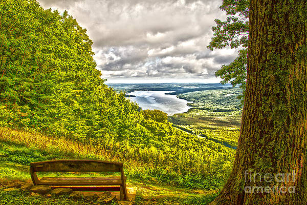 Photograph - Honeoye Lake Overlook by William Norton