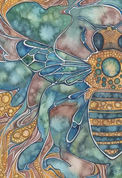 Wall Art - Painting - Honey Bee by Tamara Phillips