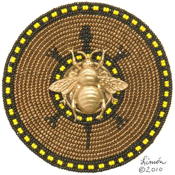 Mixed Media - Honey Bee Turtle by Douglas K Limon
