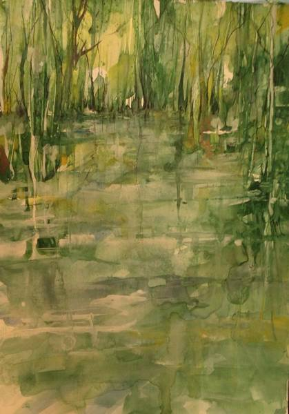 Honey Island Swamp In Green Art Print