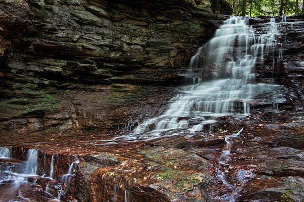 Cliff Photograph - Honey Run Falls by Tom Mc Nemar