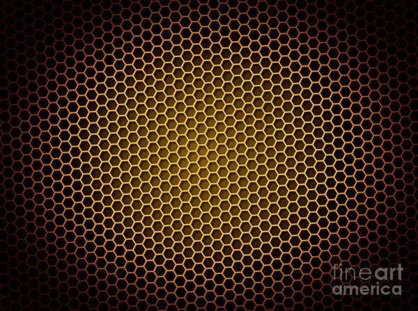 Beehive Digital Art - Honeycomb Background by Henrik Lehnerer