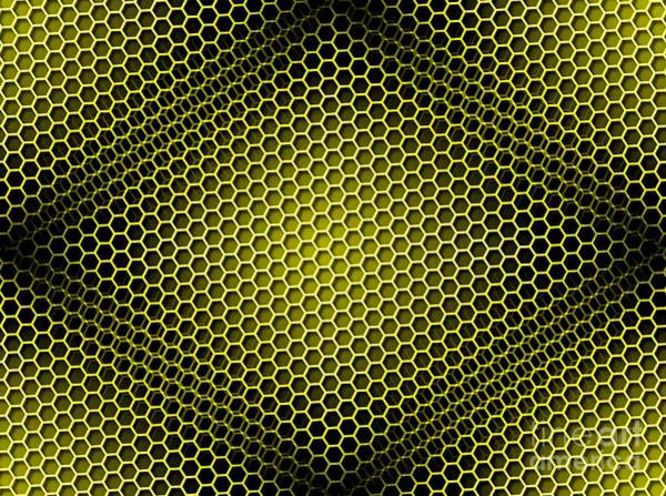 Beehive Digital Art - Honeycomb Background Seamless Yellow by Henrik Lehnerer