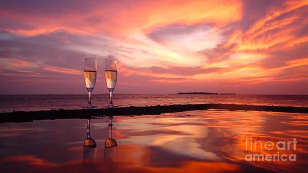 Photograph - Honeymoon - A Heart In The Sky by Hannes Cmarits