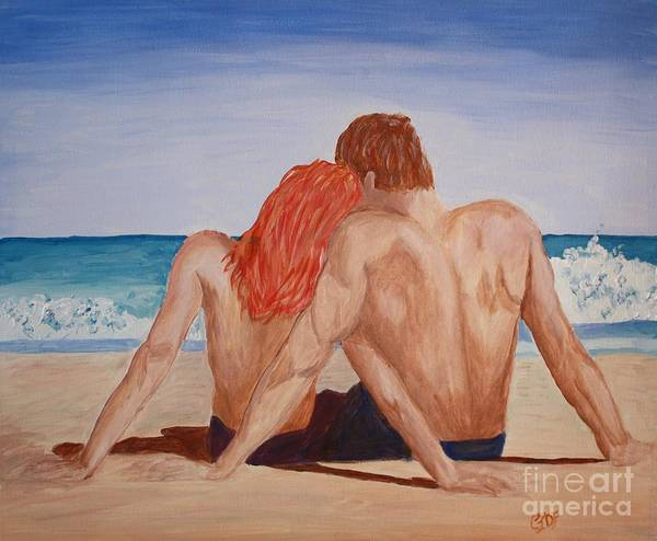Snuggle Painting - Honeymoon Before Or After by Christine Dekkers