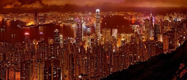 Photograph - Hong Kong In Golden Brown by Monique Wegmueller
