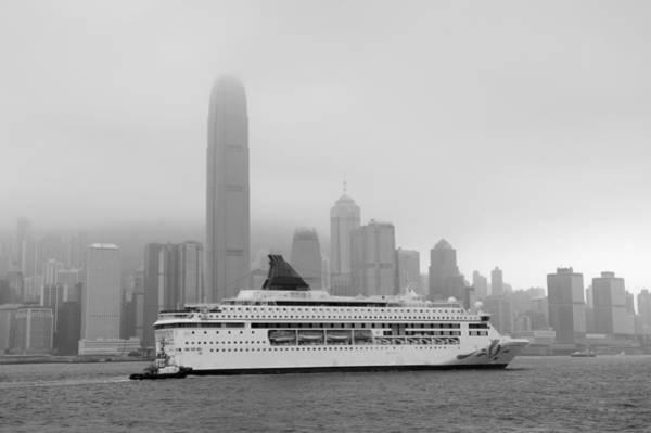 Photograph - Hong Kong Black And White by Songquan Deng