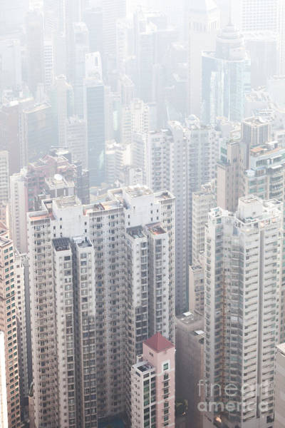 Wall Art - Photograph - Hong Kong City In The Mist by Matteo Colombo