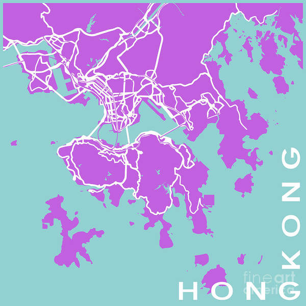 Hong Digital Art - Hong Kong by Delphimages Photo Creations