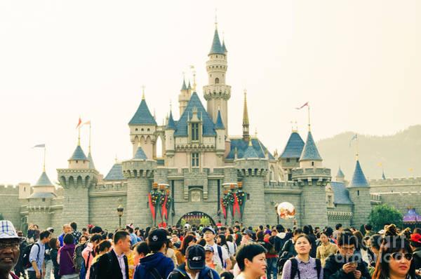 Hongkong Photograph - Hong Kong Disneyland Castle by Tuimages