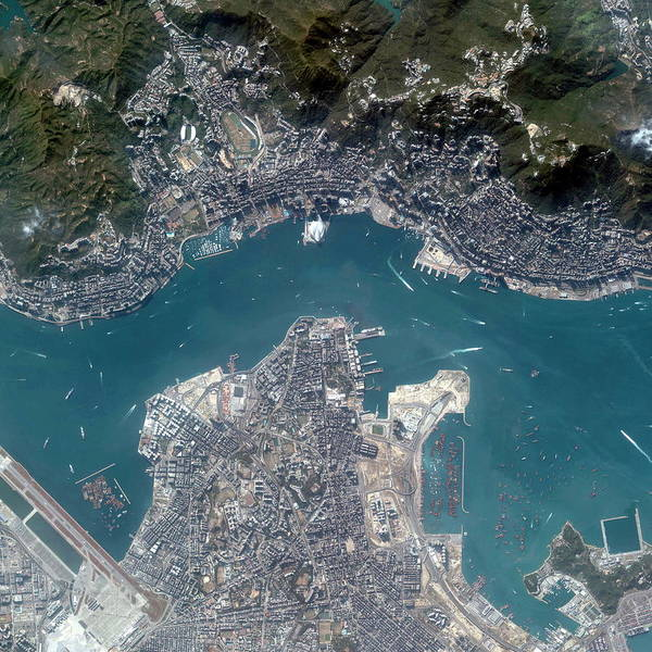 Kowloon Photograph - Hong Kong by Geoeye/science Photo Library