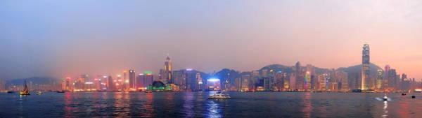 Photograph - Hong Kong Morning Panorama by Songquan Deng