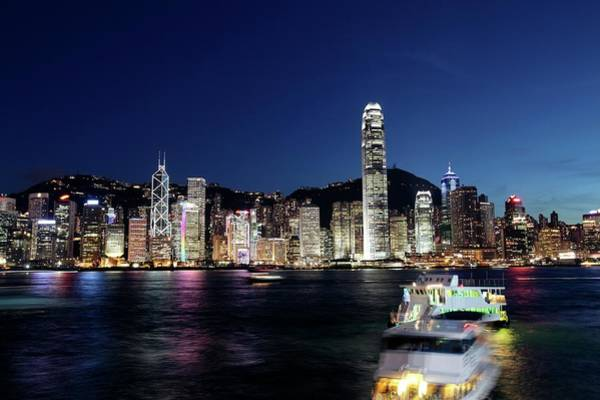 Central Business District Wall Art - Photograph - Hong Kong Skyline by Tim Lester/science Photo Library