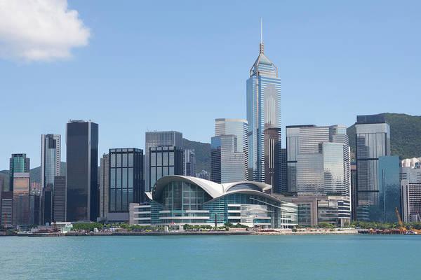 Exhibition Photograph - Hong Kong Skyline by Winhorse