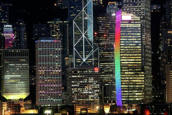 Victoria Tower Wall Art - Photograph - Hong Kong Skyscrapers by Tim Lester/science Photo Library
