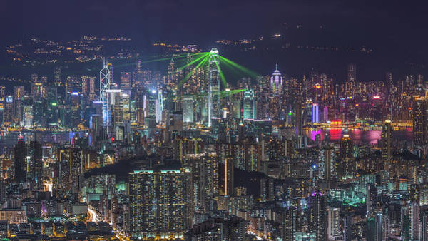 Kowloon Photograph - Hong Kong Symphony Of Light From by Coolbiere Photograph