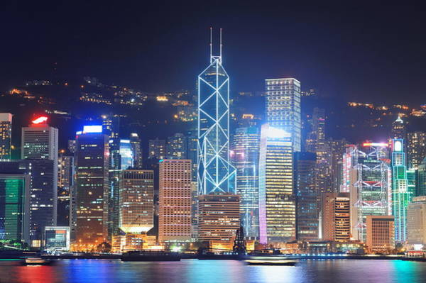 Photograph - Hong Kong Victoria Harbour by Songquan Deng