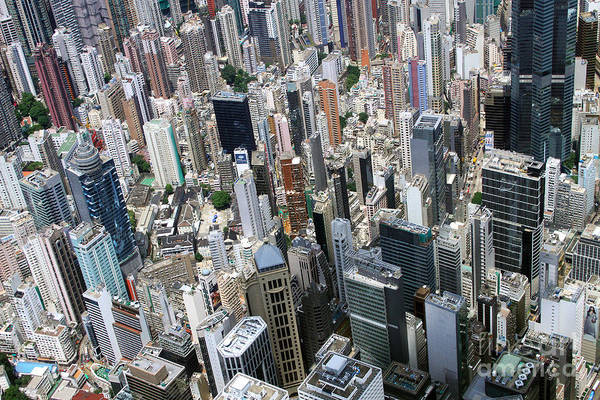 Wall Art - Photograph - Hong Kong's Density by Lars Ruecker