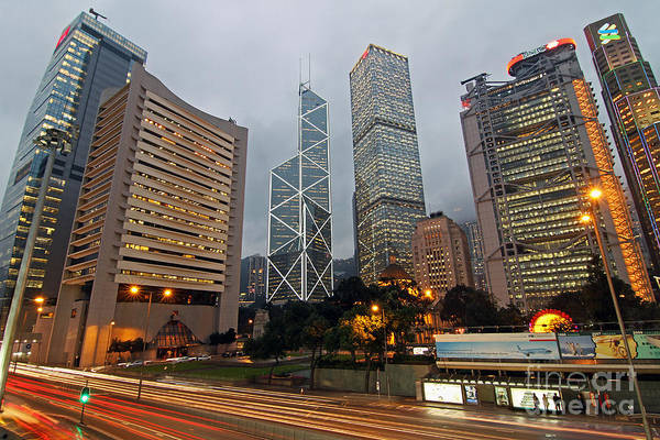 Wall Art - Photograph - Hong Kong's Financial Center by Lars Ruecker