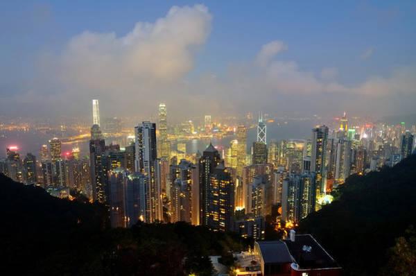 Hongkong Photograph - Hongkong City Nightlife by Wittaya Sensod