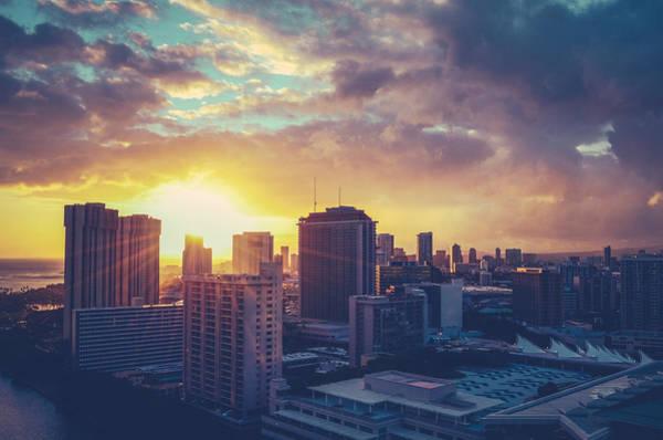 Wall Art - Photograph - Honolulu Hawaii Sunset by Mr Doomits