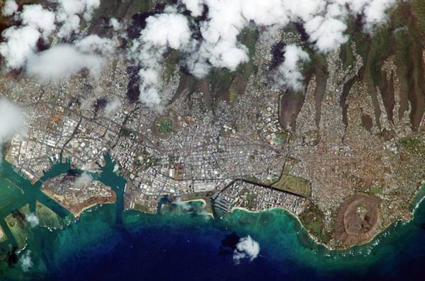 Volcanic Craters Photograph - Honolulu by Nasa